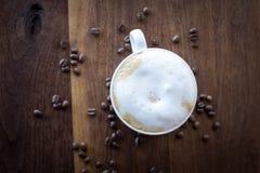 Ochtendcappuccino Stock Afbeeldingen