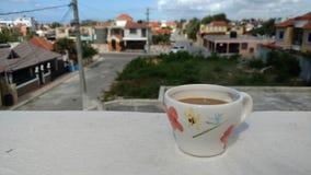 Ochtendkoffie, Eilandstijl stock afbeeldingen