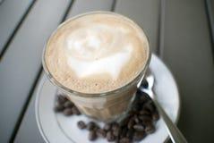 Ochtendkoffie of latte Stock Foto