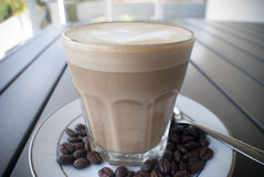 Ochtendkoffie of latte Royalty-vrije Stock Fotografie