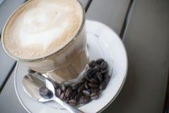 Ochtendkoffie of latte Royalty-vrije Stock Foto's
