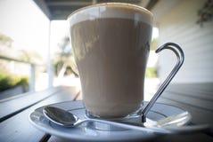 Ochtendkoffie of latte Stock Fotografie