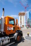 Ochtendmening van bouw langs waterkant de Zuid- van Boston Royalty-vrije Stock Fotografie
