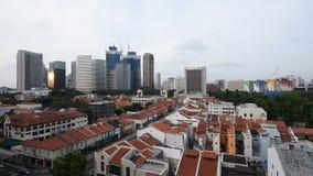 Ochtendmening van de stad van Singapore stock video