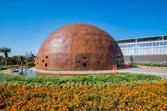 Ochtendmening van het Waipu-parkgebied van Taichung-Wereld Flora Exposition royalty-vrije stock afbeelding
