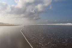 Ochtendtand in Indische Oceaan Royalty-vrije Stock Afbeelding