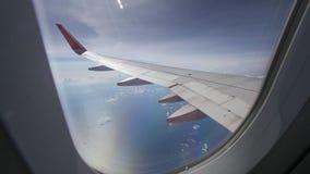 ochtendvlucht op wolk en blauwe hemel, verbazende mening van de wind Royalty-vrije Stock Fotografie