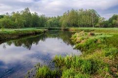 Ochtendzonsopgang op de rivier Royalty-vrije Stock Fotografie