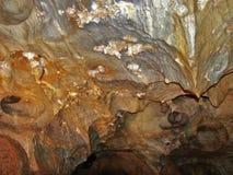 Ochtinska aragonite  cave, Slovakia. Ochtinska aragonite cave, jewel in Slovakia Royalty Free Stock Images