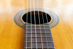 Ocidental retro tradicional do detalhe da guitarra foto de stock royalty free