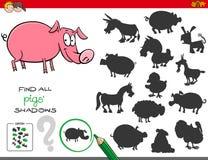 Ocienia grę z świnia charakterami Obrazy Stock