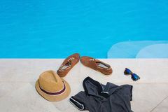 Ocio de la piscina Fotografía de archivo libre de regalías