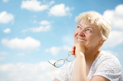 Ocio de las abuelas Fotografía de archivo libre de regalías