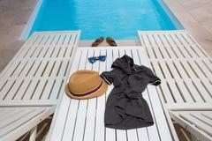 Ocio del tiempo de la piscina Foto de archivo libre de regalías