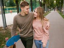 Ocio romántico del amor de la relación de la fecha del adolescente Foto de archivo