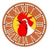 Ock do ¡ de Ð no seletor redondo do relógio Fotografia de Stock Royalty Free