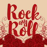 Ock and roll and roses Stock Photography