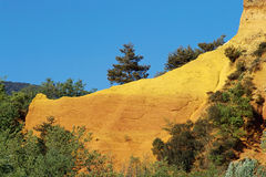 Ocker von Rustrel Colorado, Frankreich Lizenzfreies Stockbild