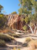 Ockerhaltige Gruben entlang auf dem Burt Plain-Hinterland stockfoto