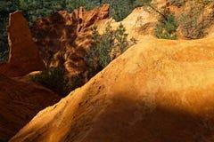 Ockerhaltiger Boden von Luberon Lizenzfreies Stockbild