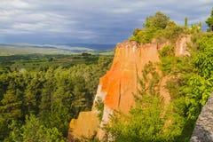 Ockrorna av Roussillon Arkivfoto