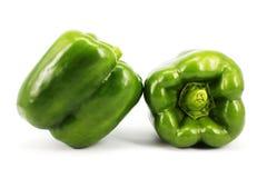 också fästande ihop gröna isolerade banapepparfoto ser liknande white Royaltyfri Bild