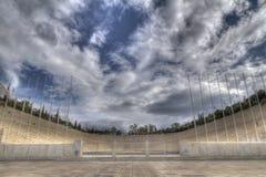 också som kallimarmaro veten panathenaic stadion Royaltyfri Bild