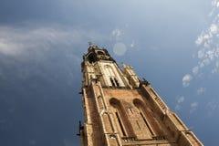 också som vetna name gammala stället poland s för bryggerikristen kyrkan det tower townen var zywiec Royaltyfri Foto