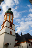 också som vetna name gammala stället poland s för bryggerikristen kyrkan det tower townen var zywiec Arkivfoto