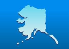 också vektor för coreldrawillustration Översikt av alaska Arkivbild