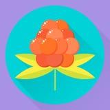 också vektor för coreldrawillustration bär för sommar för skog för symbolslägenhetrunda orange Fotografering för Bildbyråer