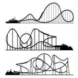 också vektor för coreldrawillustration Ferris Wheel Karneval Funfairbakgrund Cirkusen parkerar coaster prate roller vienna royaltyfri illustrationer