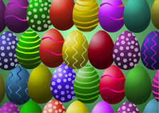 också vektor för coreldrawillustration Guld- ägg över grön lutningbakgrund Arkivfoto