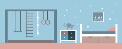 också vektor för coreldrawillustration Inre av rummet för barn` s stock illustrationer