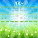 också vektor för coreldrawillustration Kalender för nytt år 2015 Arkivbilder