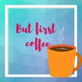 också vektor för coreldrawillustration Kopp med bästa sikt för kaffe royaltyfri illustrationer