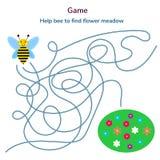 också vektor för coreldrawillustration Lek för barn Labyrint eller labyrint Arkivbilder