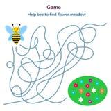 också vektor för coreldrawillustration Lek för barn Labyrint eller labyrint Arkivfoton