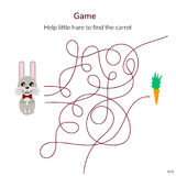 också vektor för coreldrawillustration Lek för barn labyrint eller labyrint för ki Arkivbild