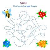 också vektor för coreldrawillustration Lek för barn labyrint eller labyrint för ki Arkivbilder