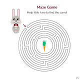 också vektor för coreldrawillustration Lek för barn rund labyrint eller labyrin Royaltyfria Foton