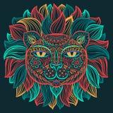 också vektor för coreldrawillustration lion Fotografering för Bildbyråer