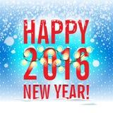 också vektor för coreldrawillustration Lyckligt nytt år 2016 nytt år Arkivbilder