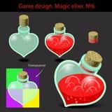 också vektor för coreldrawillustration Magisk elixir i olikt Royaltyfria Foton
