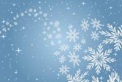 också vektor för coreldrawillustration Modellen av snöflingor på en blå bakgrund Royaltyfri Foto