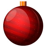 också vektor för coreldrawillustration Ny röd boll för års` s med band på vit bakgrund Arkivbilder