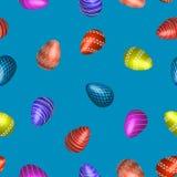 också vektor för coreldrawillustration Påsk Ägg på en blå bakgrund stock illustrationer
