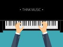 också vektor för coreldrawillustration Plan bakgrund för musikal Pianotangent med tangentbordet melodi instrument royaltyfri illustrationer