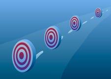 också vektor för coreldrawillustration Prestationer av mål Royaltyfri Fotografi