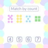 också vektor för coreldrawillustration Räkna som är modigt för förskole- barn mathe Royaltyfria Bilder